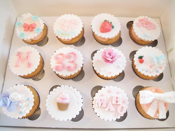 0037 パステルのカップケーキ