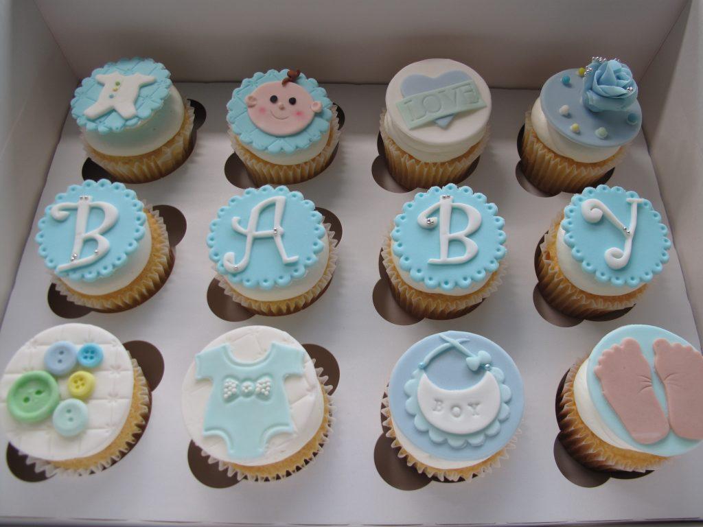 0007 ベビーシャワーのカップケーキ  Baby Shower Cupcakes