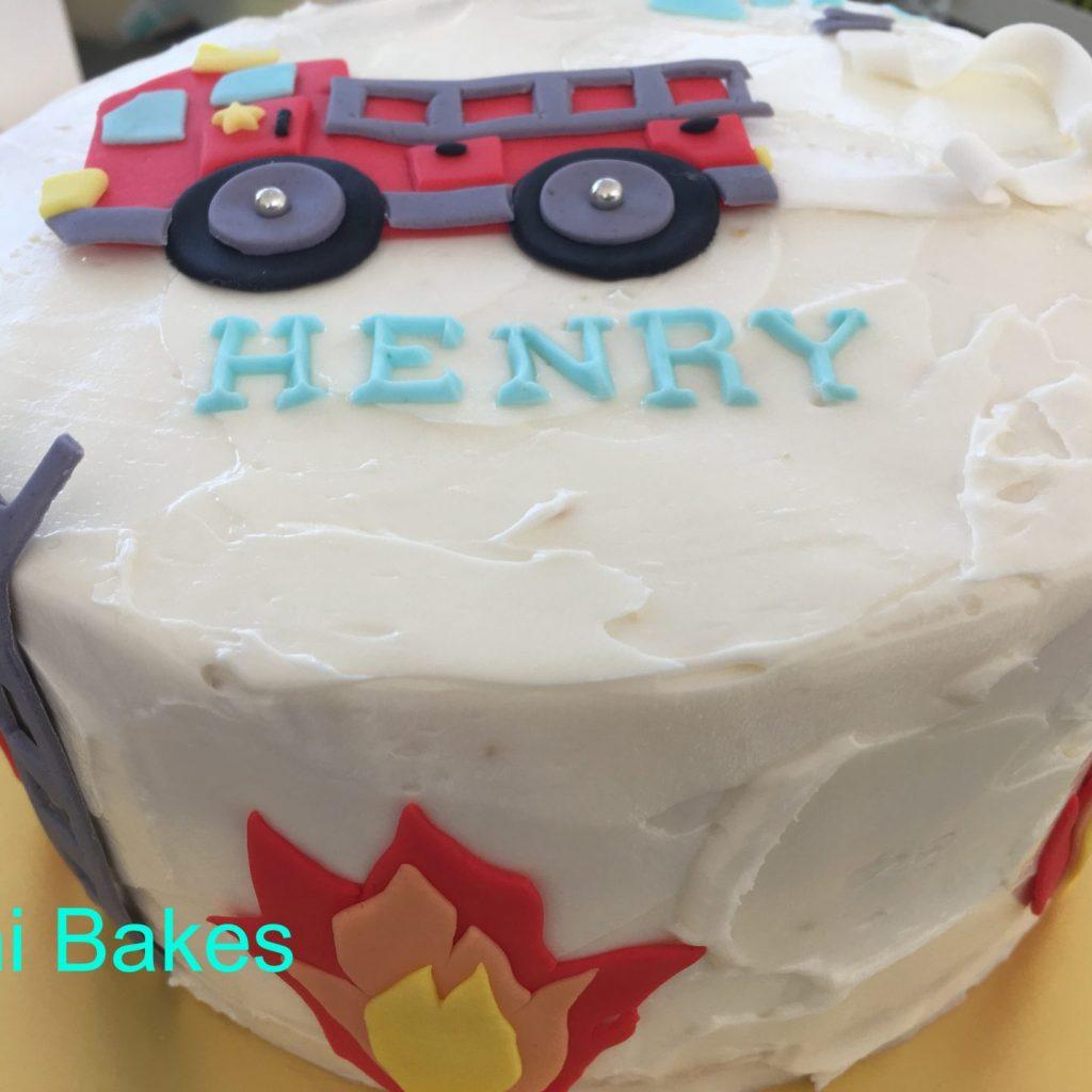 3007 消防車お誕生日ケーキ