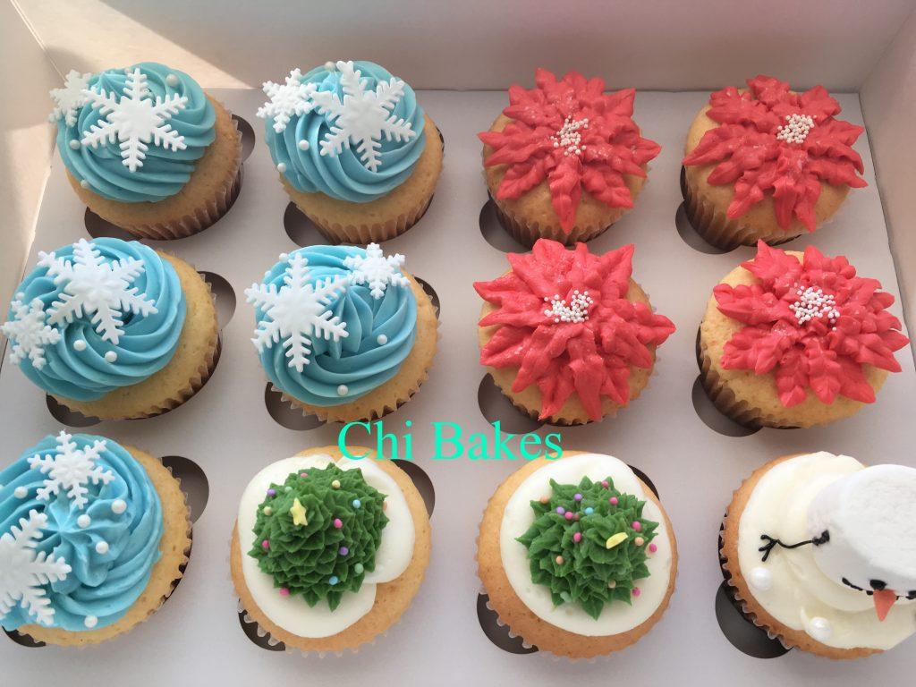 0014 クリスマステーマのカップケーキ