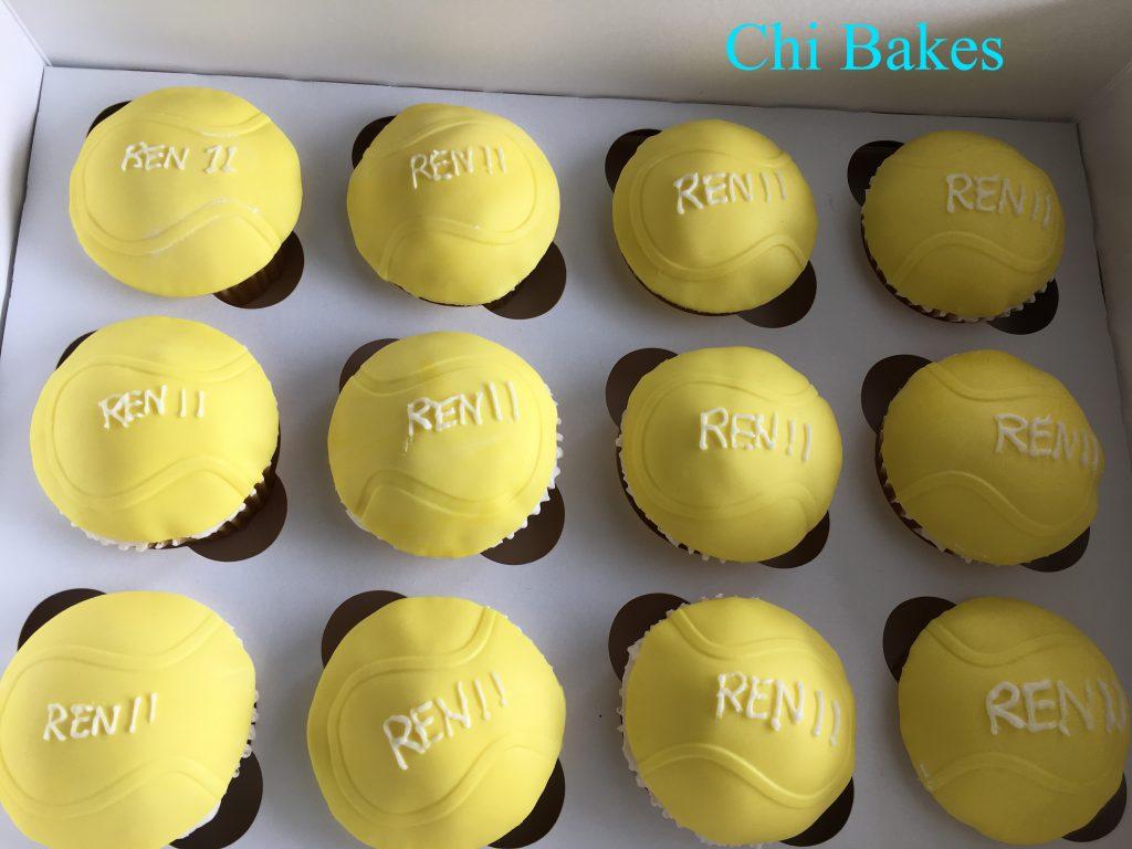 0015 テニスボールのカップケーキ