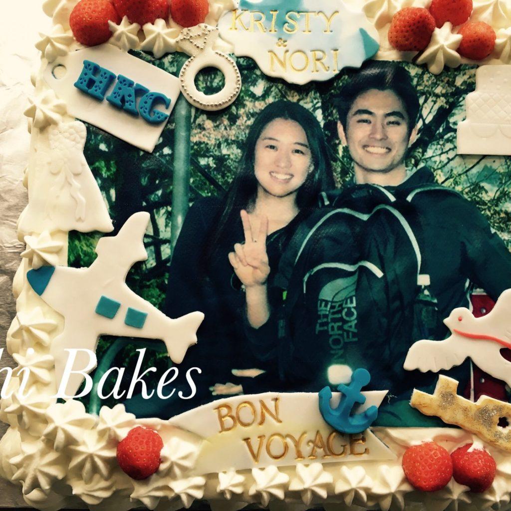 3013 お写真ケーキ、Bon Voyage