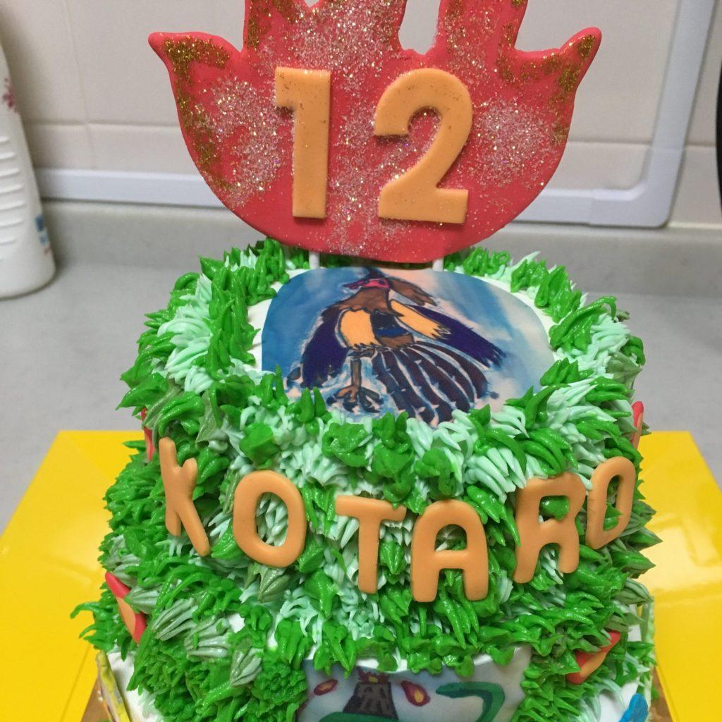 3016 お子さまの絵画のケーキ