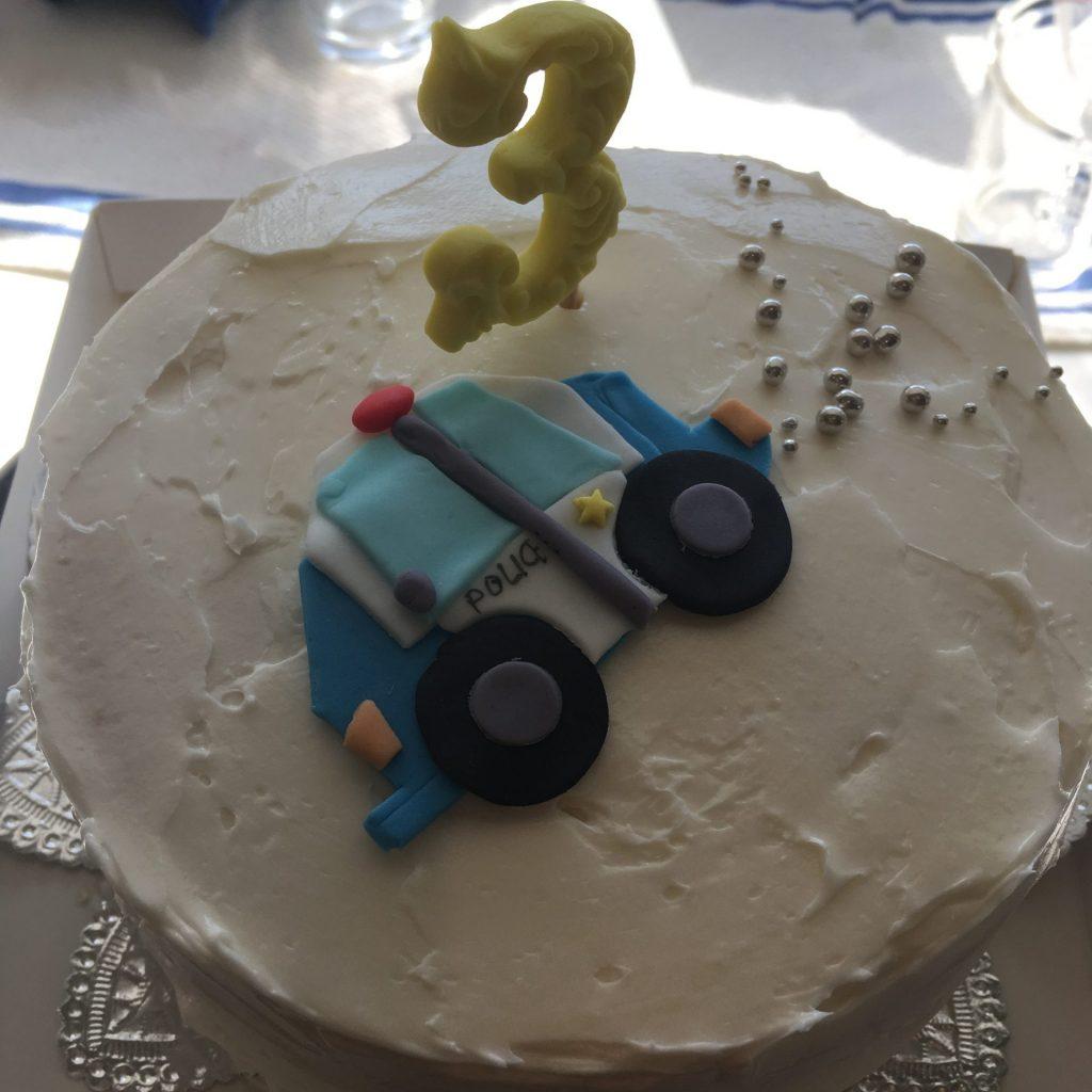 3017 働く乗り物ポリスカーケーキ