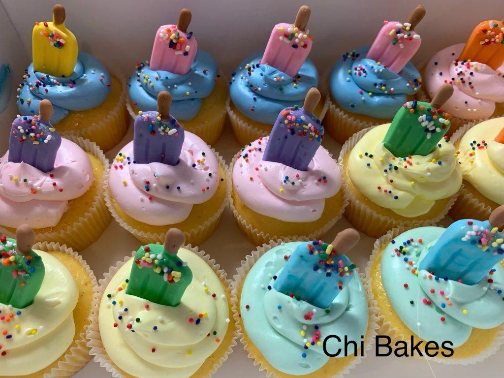 0062 アイスクリームのモチーフのカップケーキ