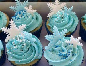 0069 Frozen 雪の結晶のカップケーキ
