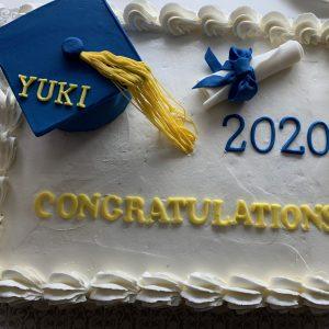 3043 Graduation Cake at Home お家で祝うご卒業ケーキ