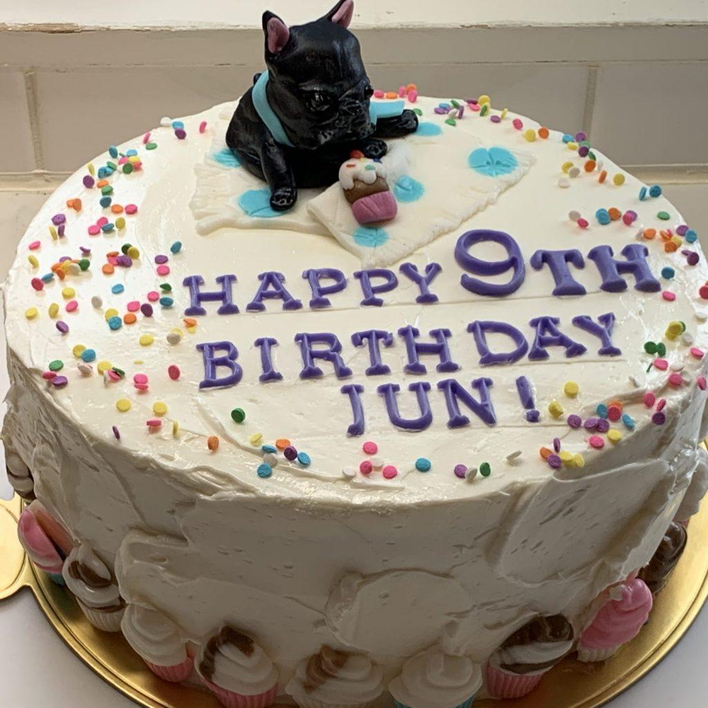 3044 愛犬のフィギュアお誕生日ケーキ