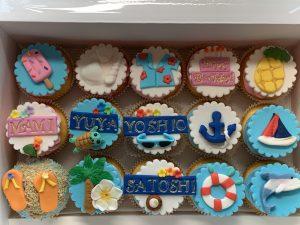 0070 ハワイのイメージのカップケーキ